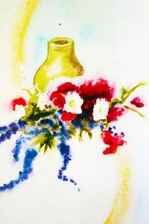 ;krug mit blumen by Maria-Anna  Ziehr