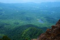 Blick auf das Tal von Mt. Togakushi von framboise
