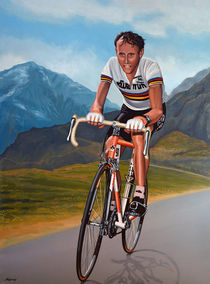 Joop Zoetemelk painting by Paul Meijering