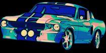 Shelby Mustang Pop Art von Florian Rodarte