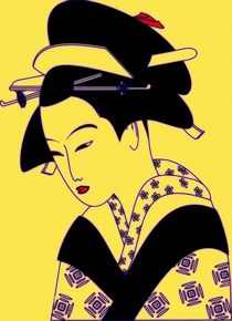 Geisha Portrait von Florian Rodarte