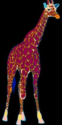 Giraffe-pop-art