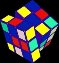 Rubik's Cube Pop Art by Florian Rodarte