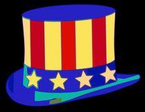 Uncle Sam Hat Pop Art von Florian Rodarte