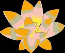 Water Lilly Pop Art by Florian Rodarte