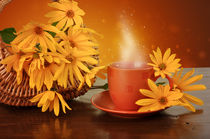 Coffee and flowers  von larisa-koshkina