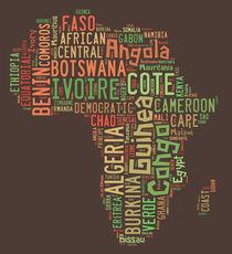 Africa Typography Map All Countries von Florian Rodarte
