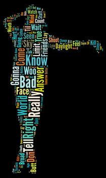 Michael Jackson Typography Poster Bad by Florian Rodarte