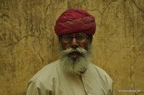Old man, Rajastan, India von Nikolaos Todoulos