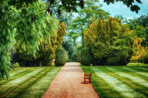 Green Formal Garden by Vicki Field