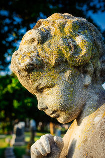 Memphis Elmwood Cemetery - Boy Angel Vertical by Jon Woodhams