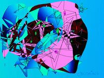Abstrakt-Surreal blau von coconing