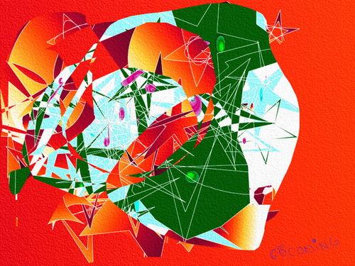 Abstrakt-rot