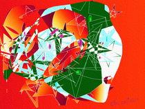 Abstrakt-Surreal Rot von coconing