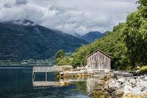 Bootshaus am Storfjord von Rico Ködder