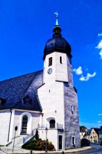 Kirche in Olbernhau (Erzgebirge) von Helmut Schneller