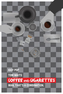 Alternate 'Coffee and Cigarettes' Movie Poster by Post Graphic