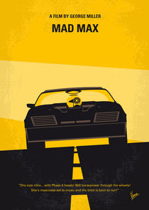 No051 My Mad Max 1 minimal movie poster by chungkong