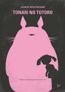 No290 My My Neighbor Totoro minimal movie poster by chungkong
