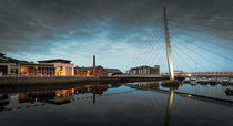 Millennium bridge Swansea by Leighton Collins