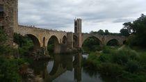 Bridge Besalu, Girona,  Medieval City von Tricia Rabanal