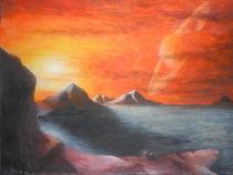 Saturnaufgang über Titan von Patrick Schuck