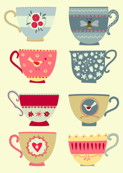 Eight-tea-cups-print