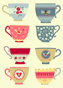Tea Cups von Nic Squirrell