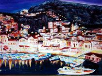 Mediterrane Küste bei Nacht von Irina Usova