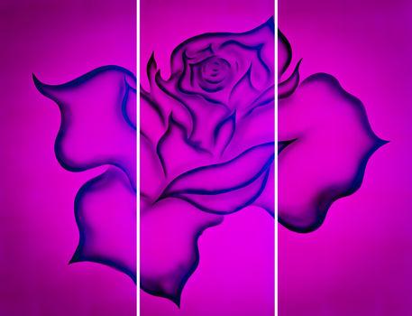 Rose-rot-3teile-lr
