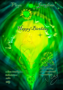 Zodiac sign Virgo Happy Birthday von Walter Zettl