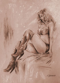High-heels-girl-sepia