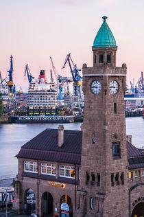 Hamburg Queen Elizabeth an den Landungsbrücken VII by elbvue