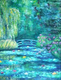 Monet Bridge Dream by Tracey Peer
