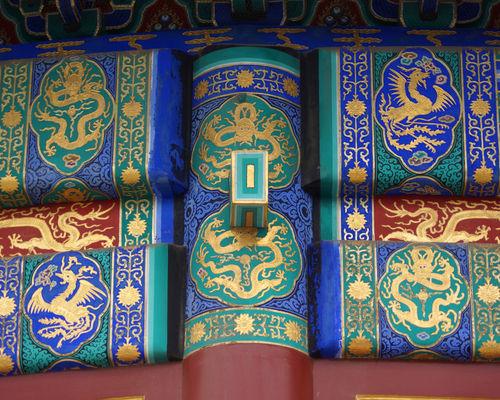 Peking-himmelstempel-balkenbemalung