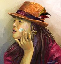 Girl with hat by Tobias Goldschalt