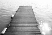 Black and White Dock by Patrycja Polechonska