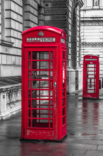 London Telephone Box I von elbvue by elbvue