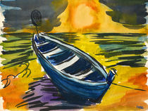 Das Boot am Meer von Norbert Hergl