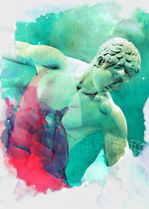 The Discobolus of Myron by Mihalis Athanasopoulos
