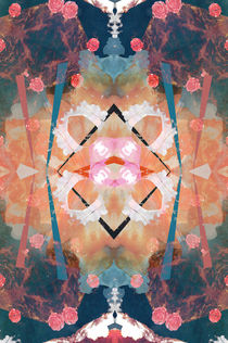 Floral angelic abstract rennaisance pattern by Mihalis Athanasopoulos