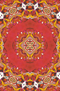 Red Indian abstract pattern by Mihalis Athanasopoulos