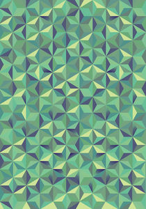 Cool green 3d triangular pattern by Mihalis Athanasopoulos
