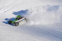 Buggy im Drift beim Eisrennen by Mark Gassner