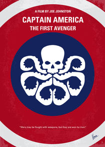 No329 My CAPTAIN AMERICA - 1 minimal movie poster von chungkong