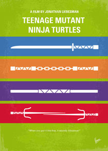 No346 My Teenage Mutant Ninja Turtles minimal movie poster by chungkong