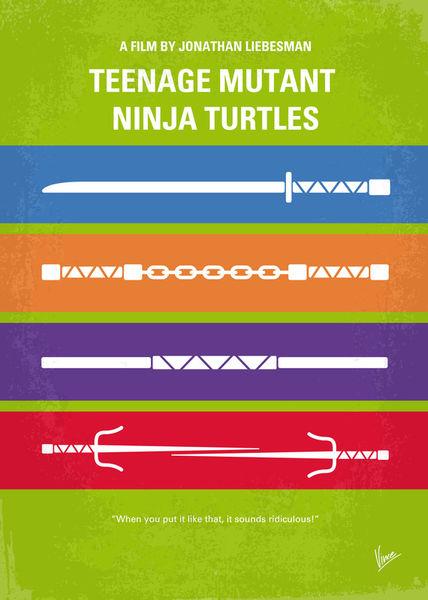 No346-my-teenage-mutant-ninja-turtles-minimal-movie-poster