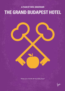 No347 My The Grand Budapest Hotel minimal movie poster von chungkong