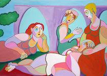 Gemälde Frauentreffen  Painting women's meetings by Twan de Vos