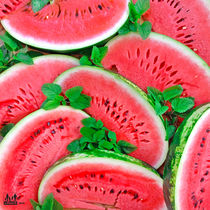 Watermelons and mint by Ullenka deHappy5_mama